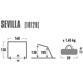 High Peak Sevilla Tenda da spiaggia, grigio/blu